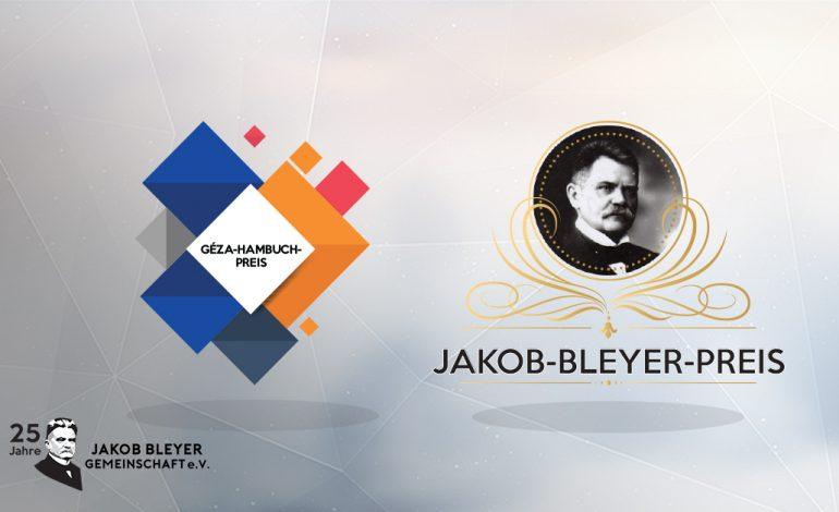 Die JBG gründet Jakob-Bleyer- und Géza-Hambuch-Preise