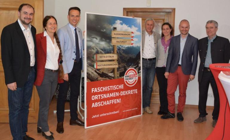 Süd-Tiroler Freiheit: Faschistische Ortsnamen-Dekrete in Südtirol abschaffen!