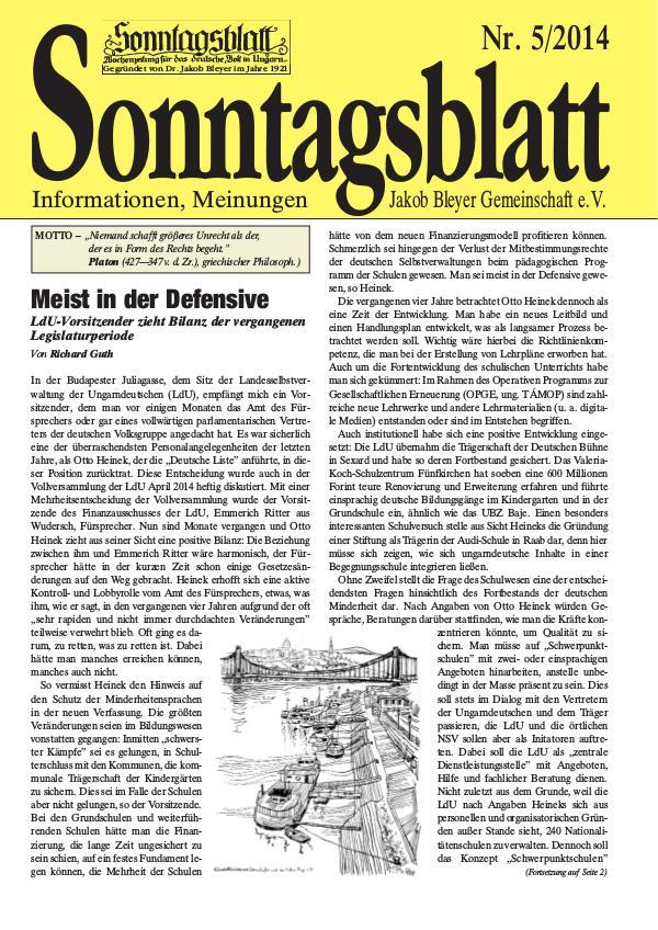 Sonntagsblatt 5/2014