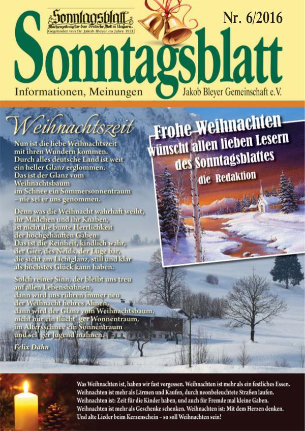 Sonntagsblatt 6/2016