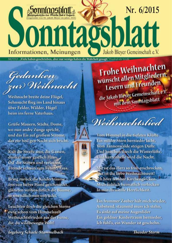 Sonntagsblatt 6/2015